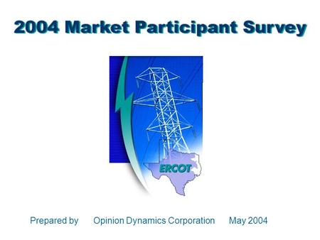 Prepared by Opinion Dynamics Corporation May 2004.