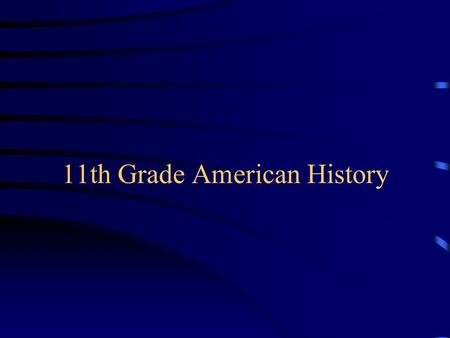 11th Grade American History Mr. Dalton's Class Subject: Chapter 16 The New Deal 1933 - 1941.