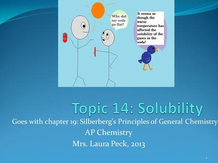 Goes with chapter 19: Silberberg's Principles of General Chemistry AP Chemistry Mrs. Laura Peck, 2013 1.