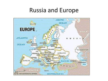 Russia and Europe. Russian Empire in 1914 Soviet Union in 1991.