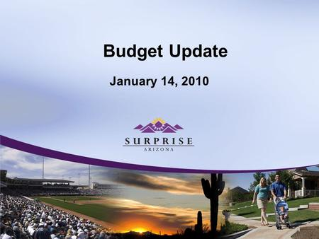 Budget Update January 14, 2010 01/14/2010 1. Non-Construction Local Sales Tax Month 3 Year Average FY2010 Budget FY2010 Actual% of Budget Projected FYE.