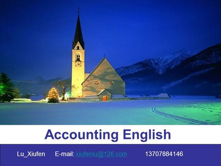 Accounting English Lu_Xiufen