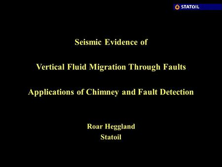 Vertical Fluid Migration Through Faults