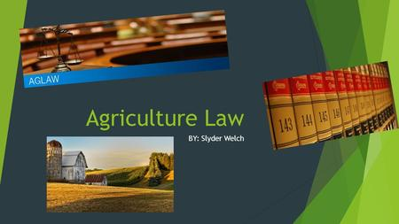 Agriculture Law BY: Slyder Welch. Location Requirements  No location requirements  Needs to be in good agriculture area  Not In big cities TEXARKANA,