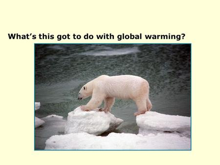 6.2 Global warming impacts What's this got to do with global warming?