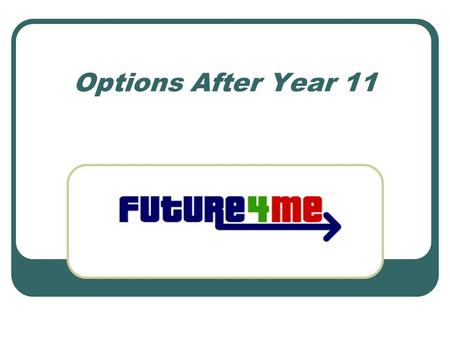 Options After Year 11. Things are changing All qualifications for 14-19 year olds are being reviewed and modernised Why? The world is changing….