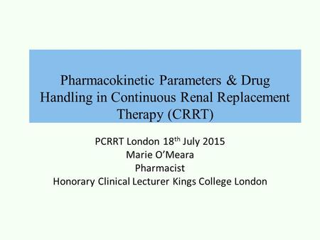 Honorary Clinical Lecturer Kings College London