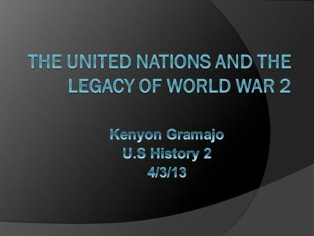  The United Nation war formed after World War 2 on October 24 1945.  The falling organization the United Nation replaced was the League of nations.