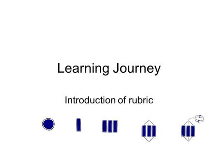 Learning Journey Introduction of rubric. How to achieve our learning outcomes Discussions List 1.Setting 2.Vocabulary 3.Books 4.Ict tools 5.Time.