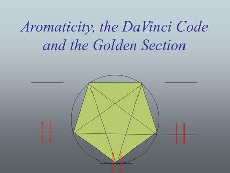 Aromaticity, the DaVinci Code and the Golden Section Title.