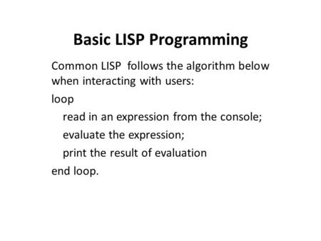 Embedding Lisp in C++ – A Recipe