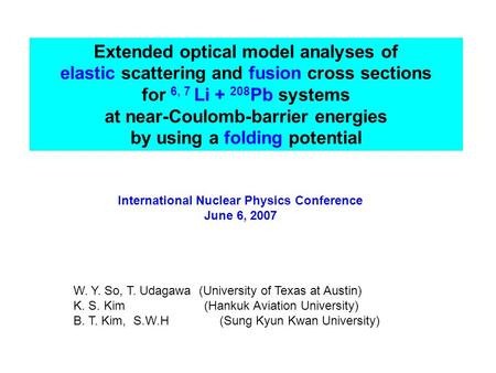Extended optical model analyses of elastic scattering and fusion cross sections for 6, 7 Li + 208 Pb systems at near-Coulomb-barrier energies by using.