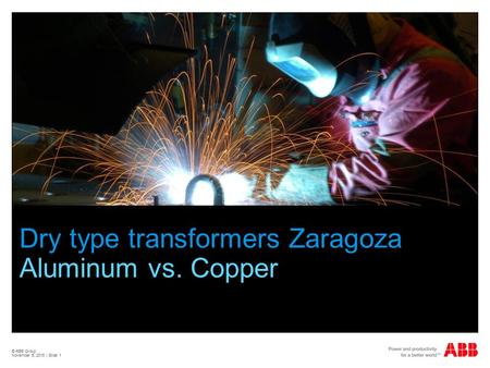 Dry type transformers Zaragoza Aluminum vs. Copper