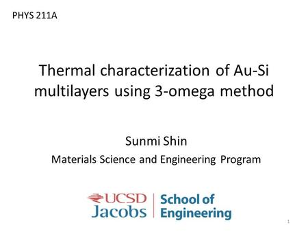 Thermal characterization of Au-Si multilayers using 3-omega method