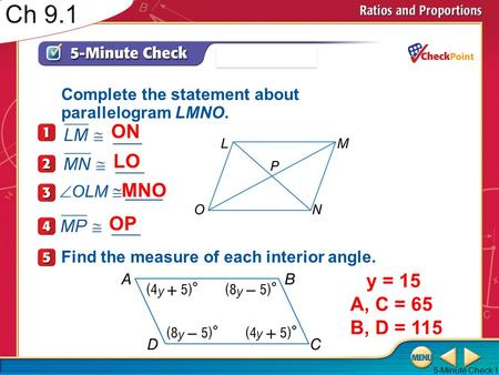 7-1 Ratios and Proportions - ppt download