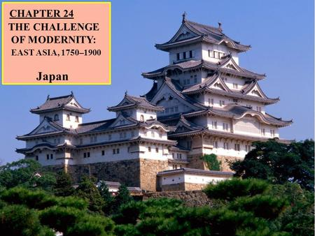 CHAPTER 24 THE CHALLENGE OF MODERNITY: EAST ASIA, 1750–1900 Japan.