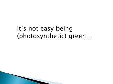 It's not easy being (photosynthetic) green…. The origin and diversification of Flowering Plants  om