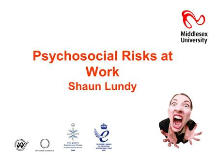 Psychosocial Risks at Work Shaun Lundy