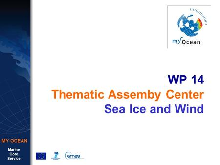 Marine Core Service MY OCEAN WP 14 Thematic Assemby Center Sea Ice and Wind.