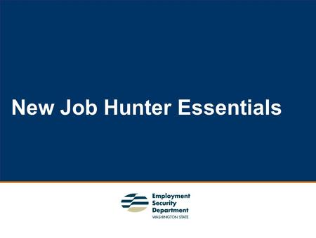 1 New Job Hunter Essentials. 2 Background  Transformational Team 2  Collaborative Effort  Complete Package.