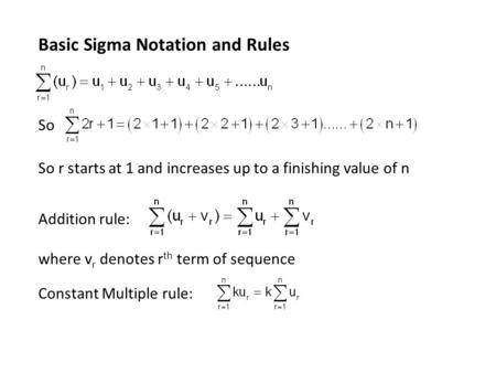 how to add sigma notation