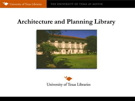 Architecture and Planning Library. Collections Our collections support the curriculum of the School of Architecture, with its academic programs in: 