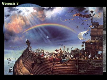 But God remembered Noah and all the wild animals and the livestock that were with him in the ark, and he sent a wind over the earth, and the waters receded.