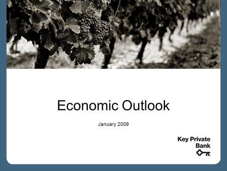 Economic Outlook January 2009. Stock Markets and the Economy Markets are one of the best leading indicators of the economy Severe market reactions tend.