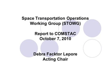 Federal Aviation Administration mercial Space