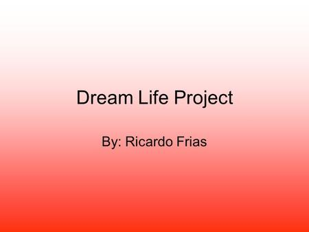 Dream Life Project By: Ricardo Frias. Miami, Florida $1,999,999. Sq. Ft: 3271 Rooms: 4 Bathrooms :4 Built in: 1950 Community: Miami, Beach.