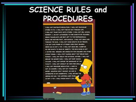 SCIENCE RULES and PROCEDURES. What are the 4 P's???? Be Prompt Be Prepared Be Polite Be Productive.