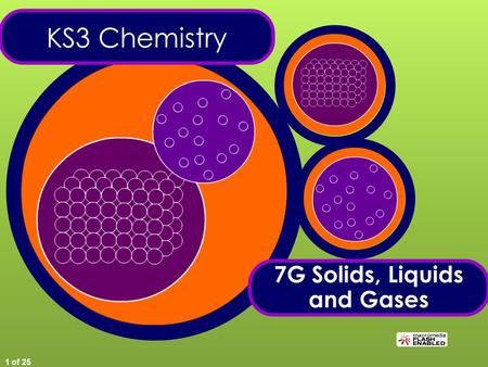 1 of 25 KS3 Chemistry 7G Solids, Liquids and Gases.