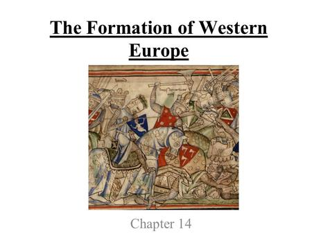 The Formation of Western Europe Chapter 14. Section 1-Church Reform and the Crusades Part 1.