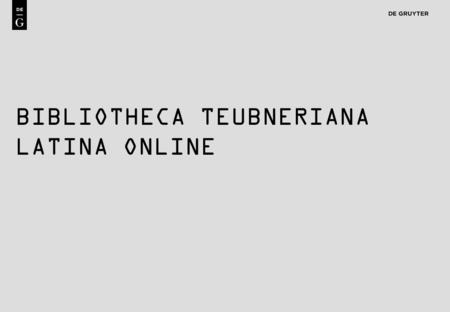 1 BIBLIOTHECA TEUBNERIANA LATINA ONLINE. 2 Content BTL Online provides electronic access to all print editions of the Bibliotheca Teubnerina Latina: Bibliotheca.