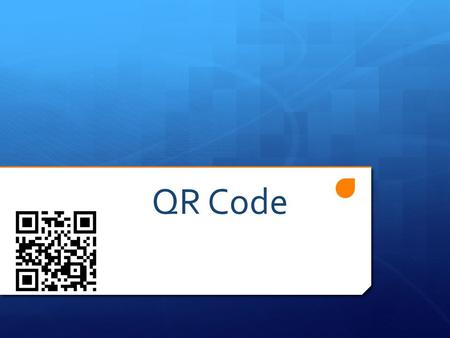 QR Code. Introduction of QRCode How does it work ? How is it used ? Conclusion.