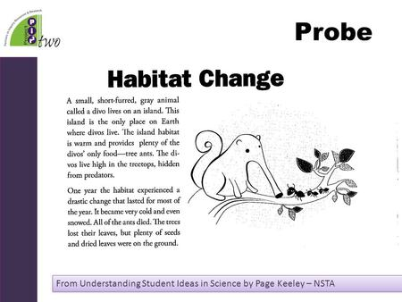 Probe From Understanding Student Ideas in Science by Page Keeley – NSTA.