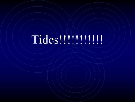 Tides!!!!!!!!!!!. Tides Periodic, short-term changes in ocean height Periodic, short-term changes in ocean height.