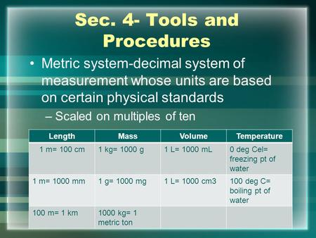 microscopy and the metric system lab experiment Nervous system, drugs and diet pills ch2the goldfishexperimentdocxlab 4 microscopy lab 2 the metric system (si) lab 1b glassware lab 1a safety precautions fall13 bio3slorubricrev carbohydrates cells cellular transport chemical reactions.