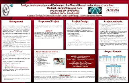 Design, Implementation and Evaluation of a Clinical Nurse Leader Model of Inpatient Design, Implementation and Evaluation of a Clinical Nurse Leader Model.