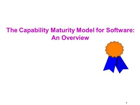What is the Capability Maturity Model? (CMM)