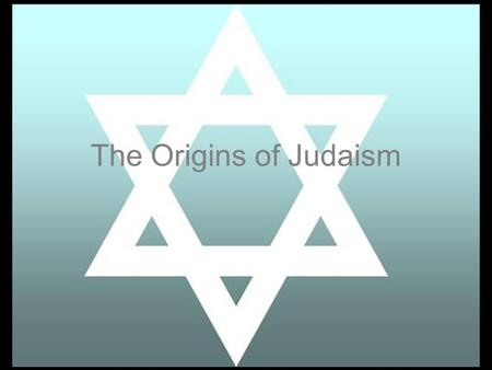 The Origins of Judaism. Background Hebrew people were just another among many trying to eek out a living in the not so fertile crescent Worshiped many.