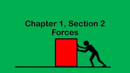 Chapter 1, Section 2 Forces