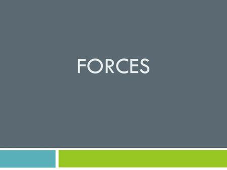 FORCES. Force  any push or pull  Example: opening a door  Pushing something across the floor.