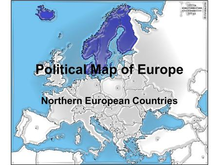 Political Map of Europe Northern European Countries.