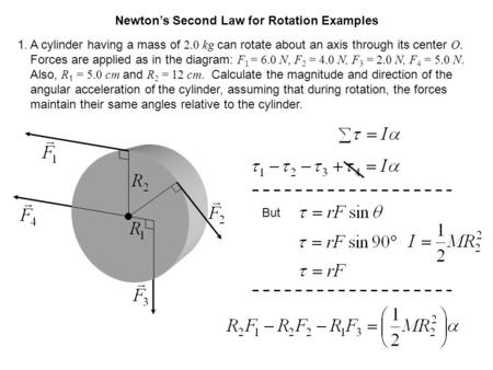 Newton's Second Law for Rotation Examples