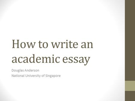 Singapore english essay
