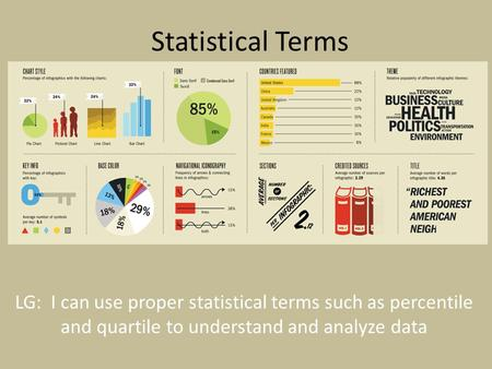 Statistical Terms LG: I can use proper statistical terms such as percentile and quartile to understand and analyze data.