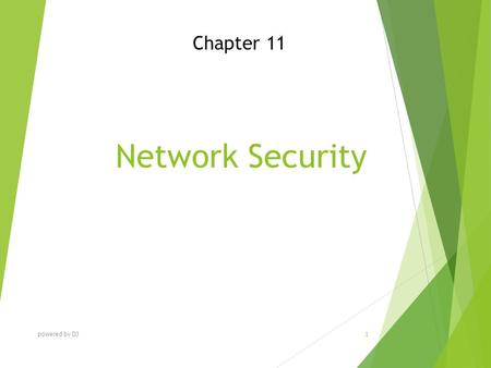 Network Security Chapter 11 powered by DJ 1. Chapter Objectives  Describe today's increasing network security threats and explain the need to implement.