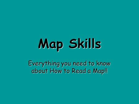 Map Skills Everything you need to know about How to Read a Map!!