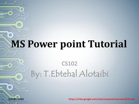 MS Power point Tutorial